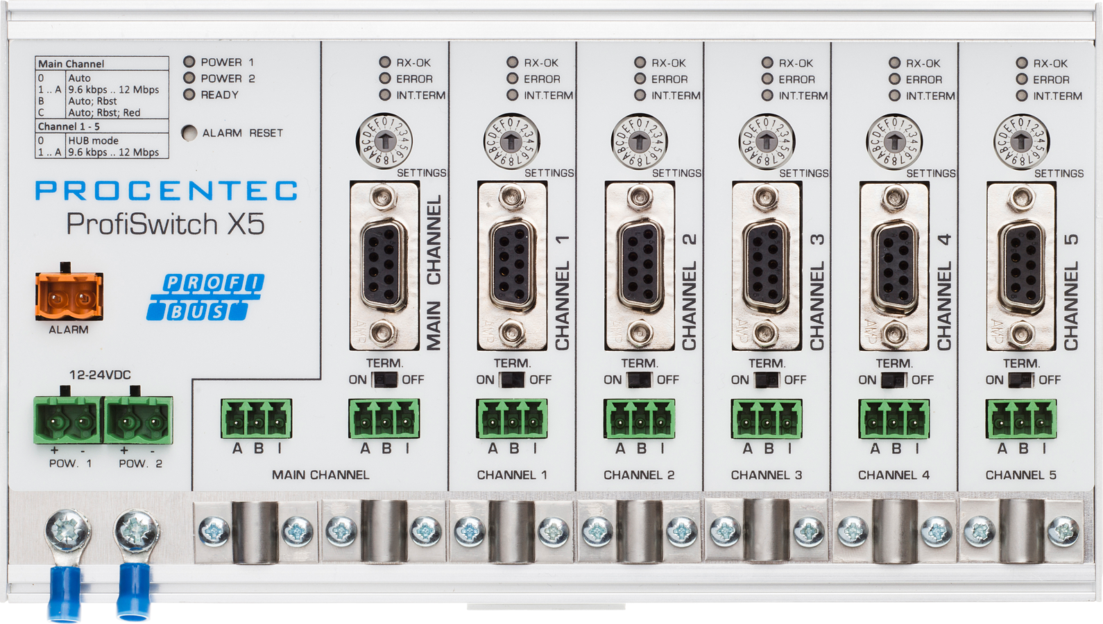ProfiSwitch X5 - PROFIBUS baudrate switch hub - visual 2